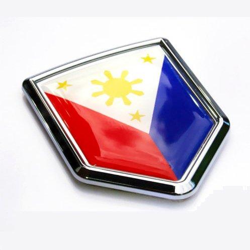 Philippine Flag Philippinian Car Auto Chrome Emblem 3d Decal Bumper Sticker (Fender Para Carros compare prices)