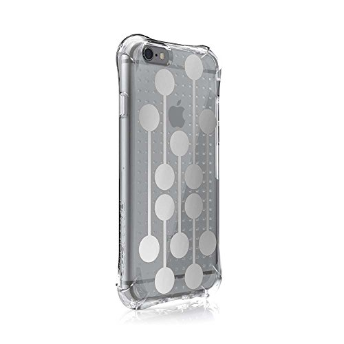 Ballistic, iPhone 6 Case / 6s Case [Jewel Mirage] Laser Etched Metal Design [Silver Dots] Reinforced Bumper 6ft Drop Test Case Cell Phone Case for Apple iPhone 6 / 6s - Clear w/ Silver VM Pattern