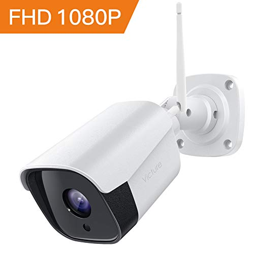 Victure Outdoor Security Camera, 1080p Weatherproof WiFi Bullet Camera, Wireless CCTV Camera with Night Vision Two Way Audio Motion Detection, Home Surveillance Camera Compatible with iOS/Android