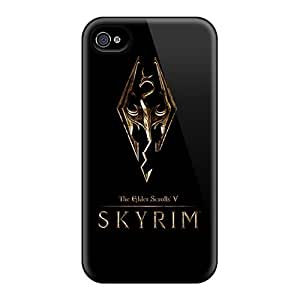 Pretty TdI17087dSti Ipod Touch 5 Skyrim Gold Logo Series High Quality Cases