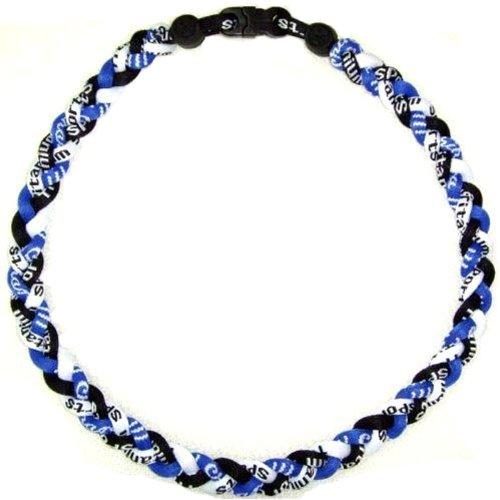 Blue/Black/White Tornado New Sports Ionic Titanium Germanium Baseball Sport Team Style Necklace - Ionic Titanium Tornado Necklace