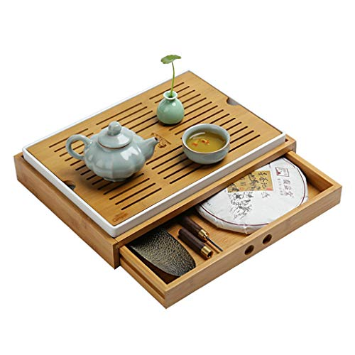 - Teapots & Coffee Servers Dry tea tray home tea table storage type simple drawer tea tray Pu'er tea lotus tea storage box tea sea (Color : Beige, Size : 37.827.27cm)