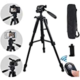 AUKOOL Tripod, Camera Tripod for DSLR and Cell Phone, 360 Degree panorma Ball Head and 8 pounds Load, Lightweight Aluminum Compact Tripod for Trval and Work
