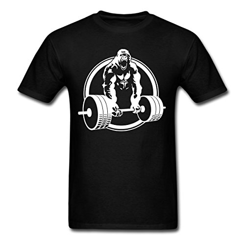 Spreadshirt Gorilla Lifting Weightlifting Men's T-Shirt, XL, black from Spreadshirt