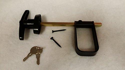 Shed T-handle Lock Set Black 6 1/2