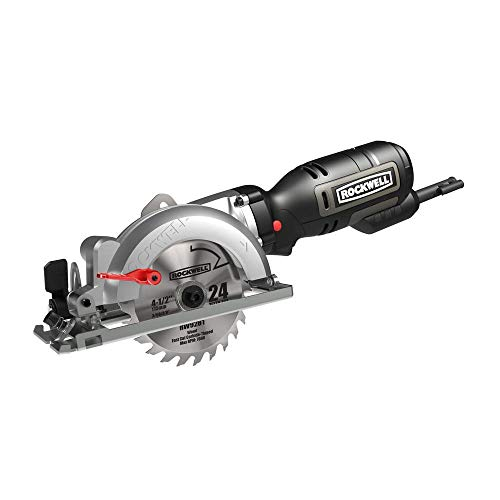 Rockwell RK3441K 4-1/2' Compact Circular Saw, 5 amps, 3500 rpm with Dust Port and...