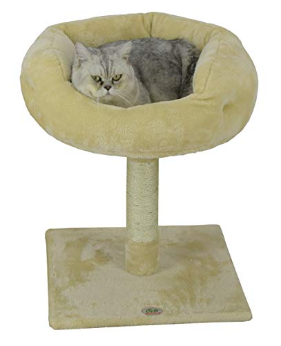 Go Pet Club F107 Tree Condo Scratcher Post Pet Bed Furniture, 24-Inch