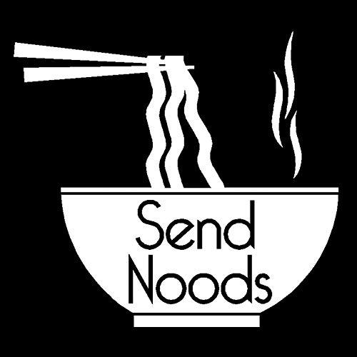Send Noods Decal, Send Nudes Noodle Sticker, Send It Vinyl Sticker, sendnudes Sticker (H 5 by L 5 Inches, -