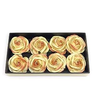 "2"" Yellow Orange Paper Flowers Paper Rose Artificial Flowers Fake Flowers Artificial Roses Paper Craft Flowers Paper Rose Flower Mulberry Paper Flowers 10 Pieces 26"