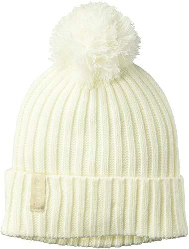 (Calvin Klein Women's Basic Rib Pom Hat, eggshell)