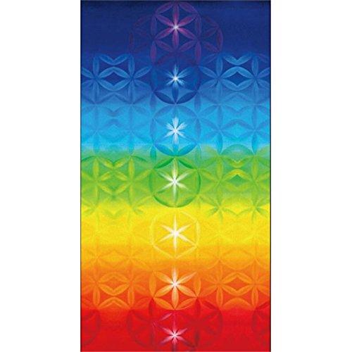 Sonjer 7 Chakra Rainbow Stripes Beach Towel Bohemia Wall Hanging Tapestry India Mandala Wall Carpet Bikini Cover Throw Blanket Yoga Mat A 150X70Cm