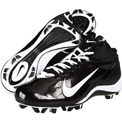 Nike Alpha Speed Shark Men's Size 8 Football Cleats Black and White