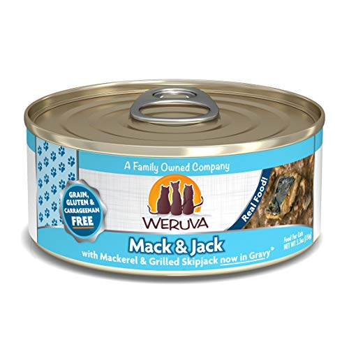 Weruva Classic Cat Food, Mack & Jack With Mackerel & Grilled Skipjack, 5.5Oz Can (Pack Of 24)