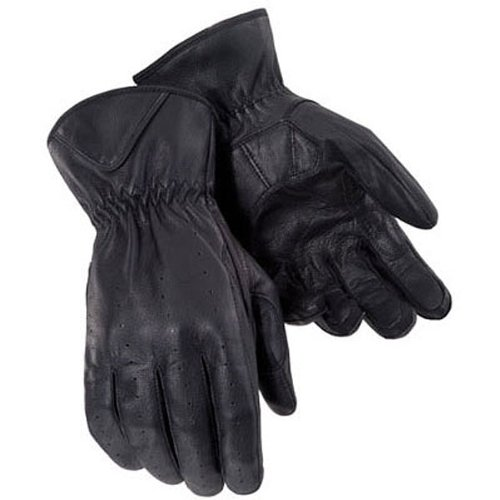 (Tour Master Select Summer Men's Leather On-Road Motorcycle Gloves - Black / X-Large)