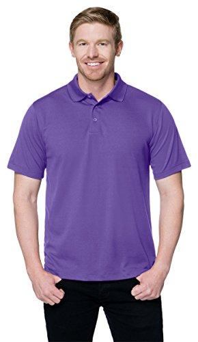 Tri Mountain Performance K020 Mens 100  Polyester Knit S S Golf Shirt   Purple   Xlt