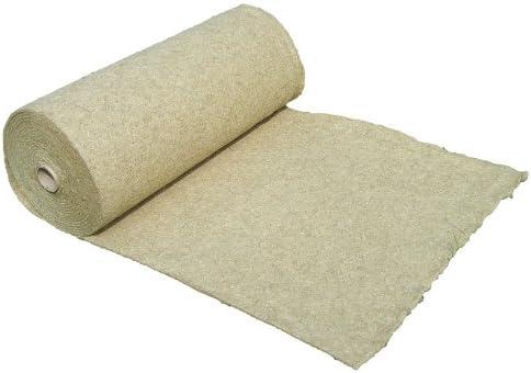 Alfombra para roedores hecha de 100% de cáñamo, vendida por metro, 0,50 m x 10,00 m x 0,5 cm de espesor (EUR 6,23 / m²), alfombra para roedores adecuada como revestimiento de piso en jaula, p. para co