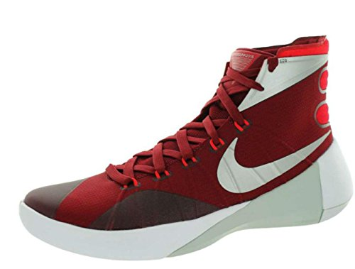 NIKE Men White s Metallic University Hyperdunk 2015 Silver Team Red Red UUwr6q