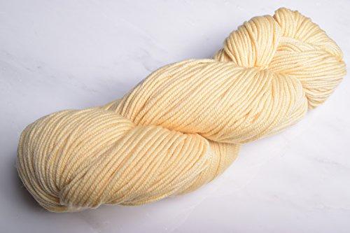 Yarn 020 (Plymouth - Worsted Merino Superwash Knitting Yarn - Butter (# 020))