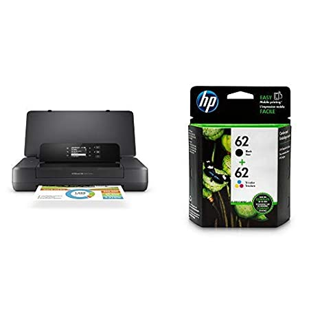 HP OfficeJet 200 Portable Printer with Wireless & Mobile Printing (CZ993A) with Std Ink Bundle