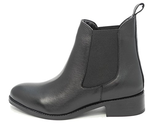 Boots Mod Chelsea SIZE Leather Womens Ladies 9 Comfys Ankle Nappa Black SwqTS6af0