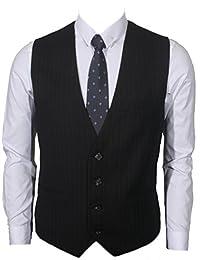 Ruth&Boaz Men's 3Pockets 4Button Business Suit Vest