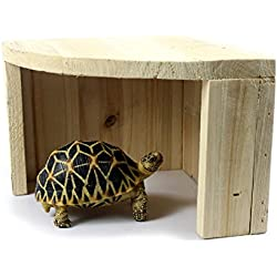 Wildgirl Reptile Gecko Tortoise Bearded Dragon Cedarwood Hideout Hiding Place Hut