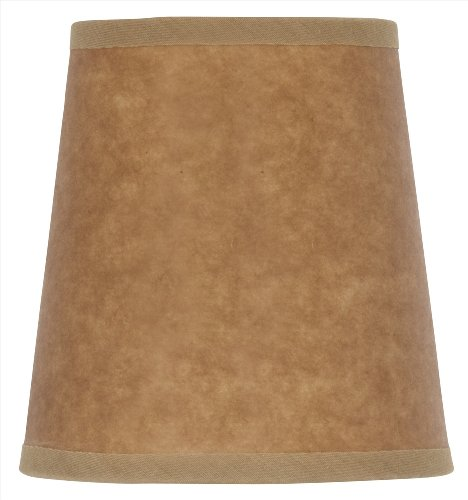 Mini Chandelier Shade Clip On Small Lamp shade Oiled Craft Paper