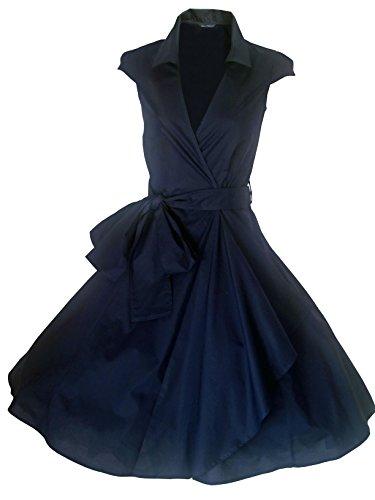 Abend Party Größen 50er Retro Rockabilly Cocktailkleid EU Mitternachtsblau 52 FOR Stil STARS Vintage Jahre THE Kleid LOOK Sommerkleid 34 xwnqgY608F