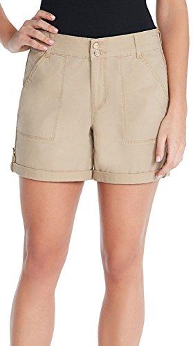 Gloria Vanderbilt Twill Shorts Perfect Khaki 14 Womens Perfect Khaki Shorts