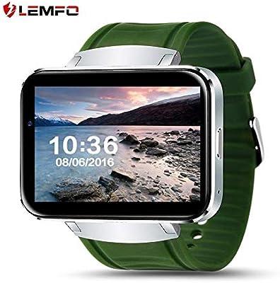 Lovelysunshiny LEMFO LEM4 Pantalla de 2,2 Pulgadas GPS Mapa del Tiempo comprobación Inteligente Reloj para Android