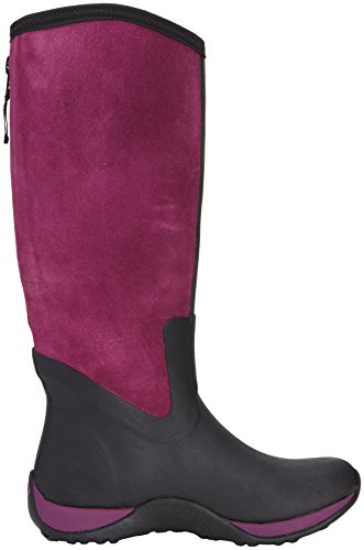 Muck Boots Arctic Adventure Zip Suede Damen Stiefel Schwarz (Black/Purple)