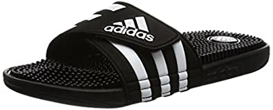 adidas Men's Adissage, Black (Core Black/Footwear White/Core Black), 10.5 US