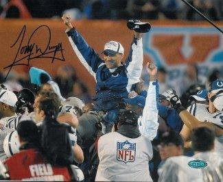 Tony Dungy Signed Photo - 8x10 SB XLI Carryoff Hologram - Steiner Sports Certified - Autographed NFL Photos (Dungy Tony Sb)