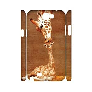 Giraffe Personalized 3D Cover Case for Samsung Galaxy Note 2 N7100,customized phone case ygtg561652