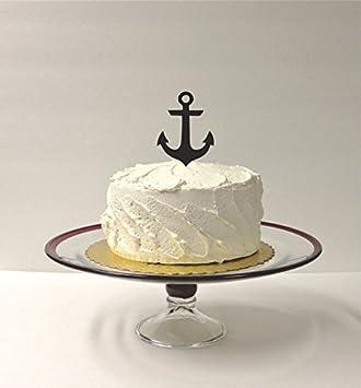 Amazon anchor wedding cake topper nautical wedding cake anchor wedding cake topper nautical wedding cake decoration acrylic wedding beach themed cake topper nautical cake junglespirit Choice Image