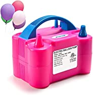 Electric Air Balloon Pump, AGPtEK Portable Dual Nozzle Inflator/Blower for Party Decoration
