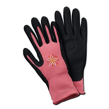 HandMaster Bella Women's Comfort Flex Coated Garden Glove, Small/Medium
