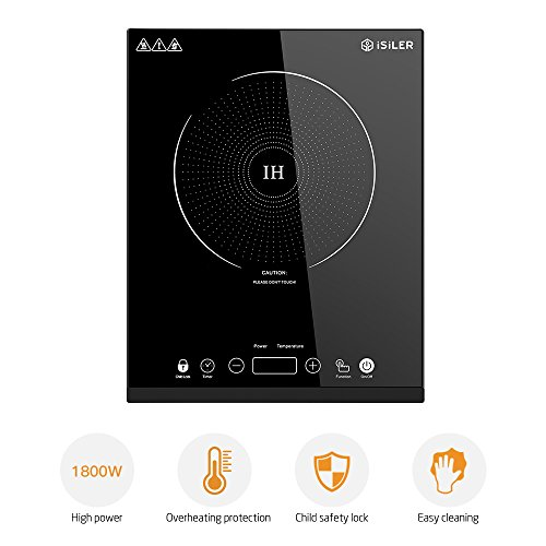 Portable Induction Cooktop, iSiLER 1800W Electric