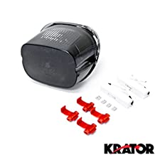 Krator® 1996-2008 Harley Davidson Softail, Road King, Dyna Glide, Electra Glide, Night Train, Fat Boy, Low Rider LED TailLights Brake Tail Lights w/ Integrated Turn Signals Indicators Smoke Motorcycle