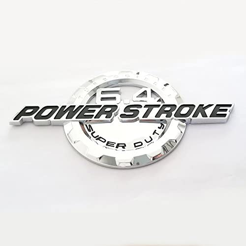 4pcs OEM 6.4L Powerstroke Emblem Both Fender 6.4 L Power Stroke Turbo Badge 3D Logo Replacement for F250 F350 F450 Black