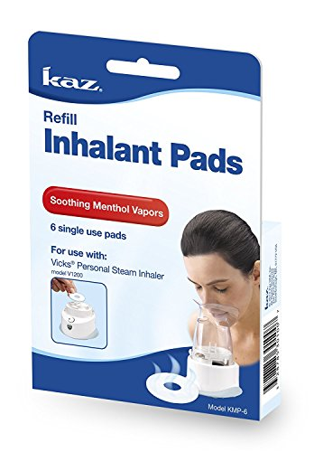 KAZKMP6PK - Kaz Inc Vicks Aromatic Inhalant Pad, Single-Use (6 Count)