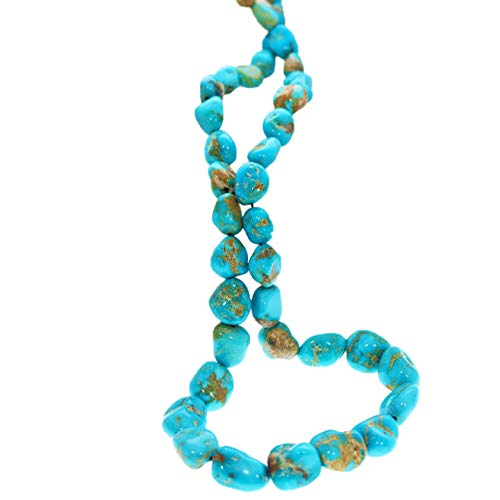 Nevada Turquoise - SIERRA NEVADA TURQUOISE Beads Nevada Potato Shape Bright Blue