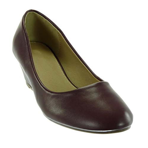 Slip Angkorly Chaussure on Bordeaux Compensé Decolleté 5 Talon Cm Mode 4 Escarpin Femme qtfwxtrC