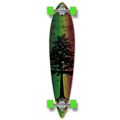 (Yocaher in The Pines Rasta Longboard Complete Skateboard - Available in All Shapes (Pintail))