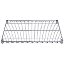 Akro-Mils AWS1830SHELF 18-Inch X 30-Inch NSF Approved Industrial Grade Chrome Wire Shelf, 4-Pack