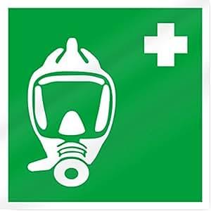 Mascarilla símbolo señal de seguridad 10cm ancho x 10cm