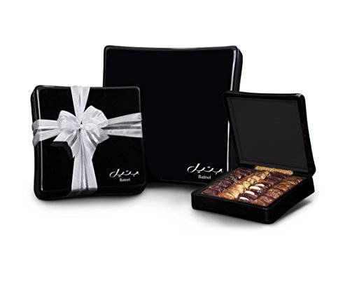 Onyx Black Wood Gift Box with Gourmet Stuffed Dates (96 Pieces) by Bateel USA (Image #1)