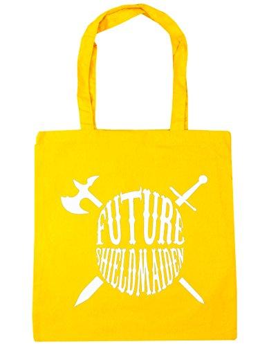 HippoWarehouse - Bolsa de playa de algodón  Mujer, natural (Beige) - 13501-TOTE-Natural amarillo