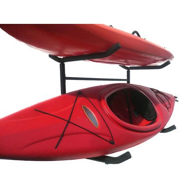 Stoneman Sports KC-103 Sparehand Catalina Freestanding Double Kayak or Canoe Storage Rack, Single Sided, Black Finish