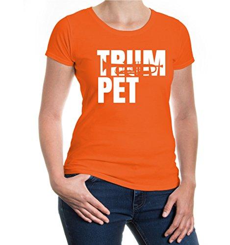 Girlie T-Shirt Trumpet Type Orange
